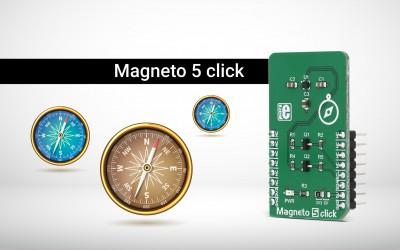 Magneto 5 click - a 3-axis magnetic sensor