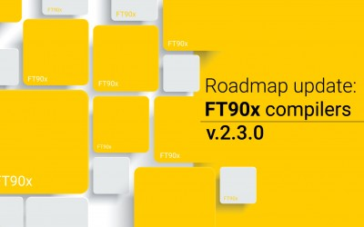RoadMap update for FT90x compilers