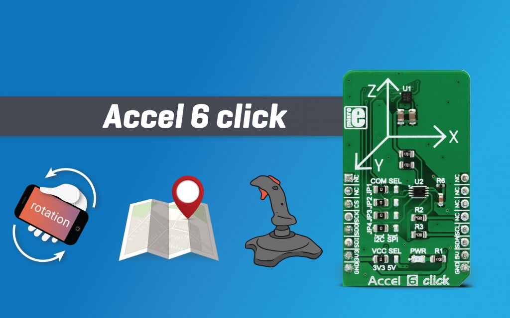 Accel 6 click - low power acceleration sensor