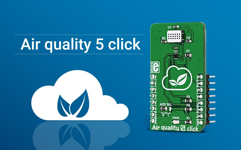 Air quality 5 click - detect pollution, carbon monoxide, methane, and more