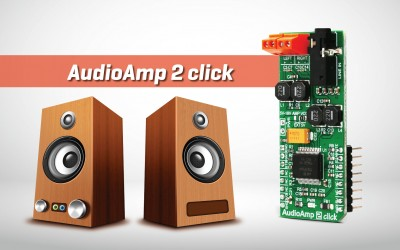 AudioAmp 2 click - highly efficient audio amplifier