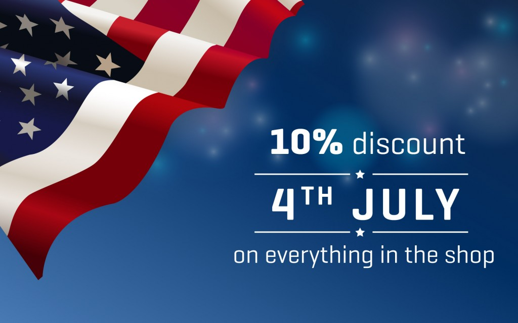 4th of July special offer - 10% off on all products