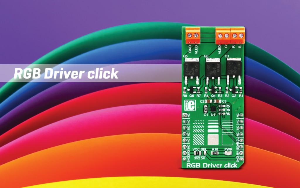 RGB Driver click - drive LED fixtures and stripes