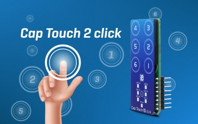 Cap Touch 2 click - capacitive touch sensing