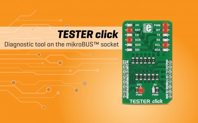 Tester click - diagnostic tool on the mikroBUS™ socket
