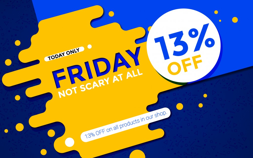 13% discount on ALL PRODUCTS - Not so scary Friday