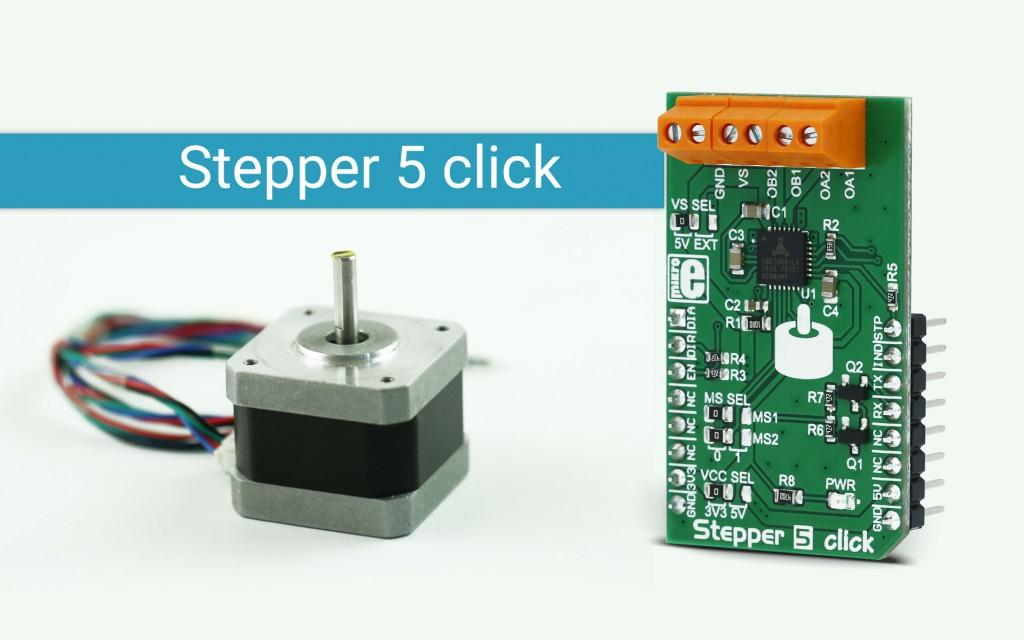 Stepper 5 Click (Bipolar Step Motor Driver Solution) - MikroE