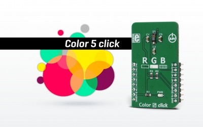 Color 5 click - color and proximity sensor solution