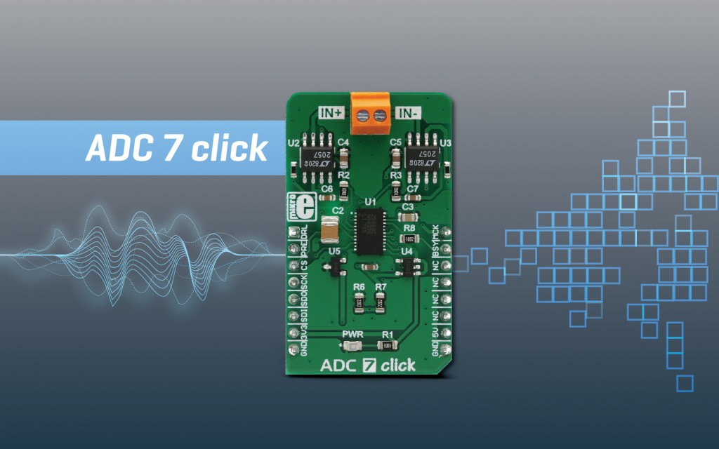 ADC 7 click - 32-bit analog to digital converter