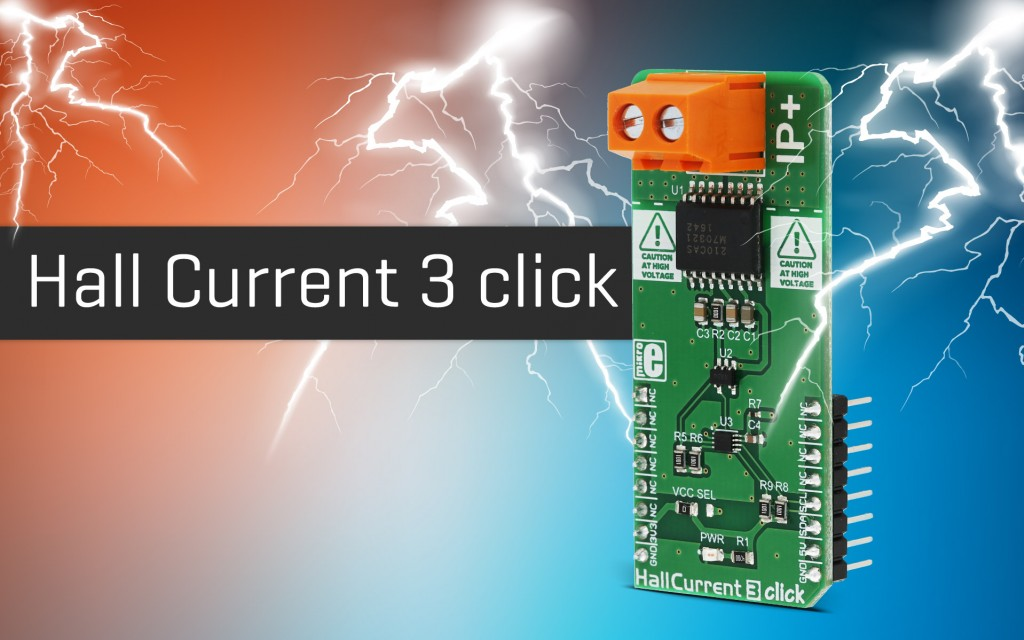 Hall current 3 click -  current measurement