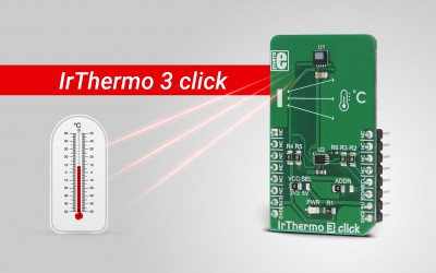 IrThermo 3 click - contactless measurement of the object temperature