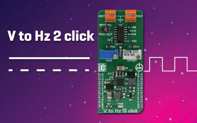 V to Hz 2 click - convert an analog voltage input into a frequency