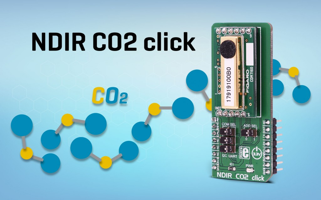 NDIR CO2 click - measure an absolute CO2 concentration
