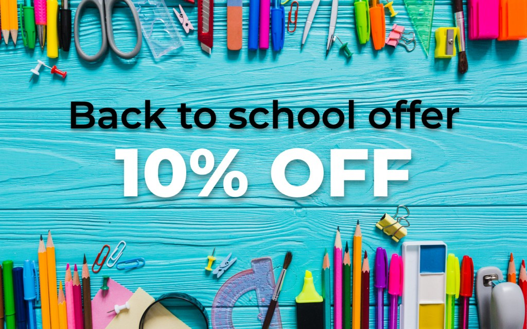 Back to school offer - specially made bundles + 10% discount on other products
