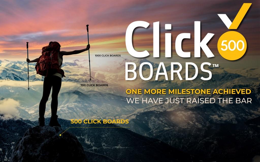 One more milestone achieved - 500 Click boards™