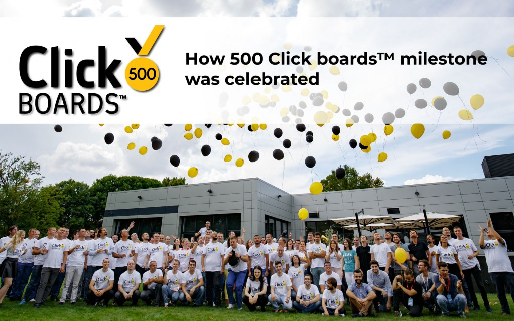 How 500 Click boards™ milestone was celebrated