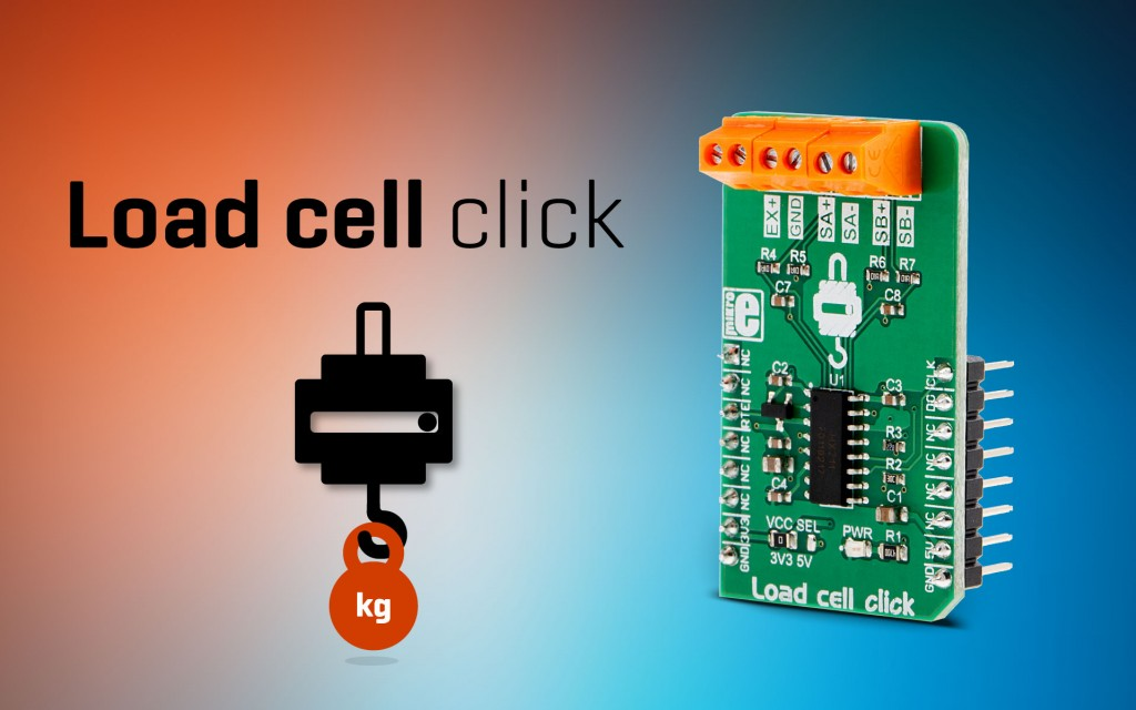 Load cell click - precise weight measurement