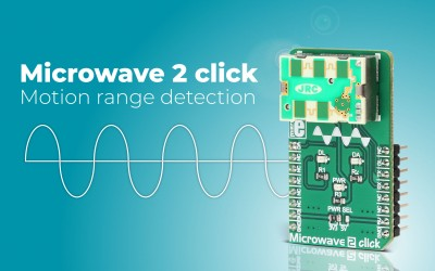 Microwave 2 click - motion range detection tool (for all of EU regions)