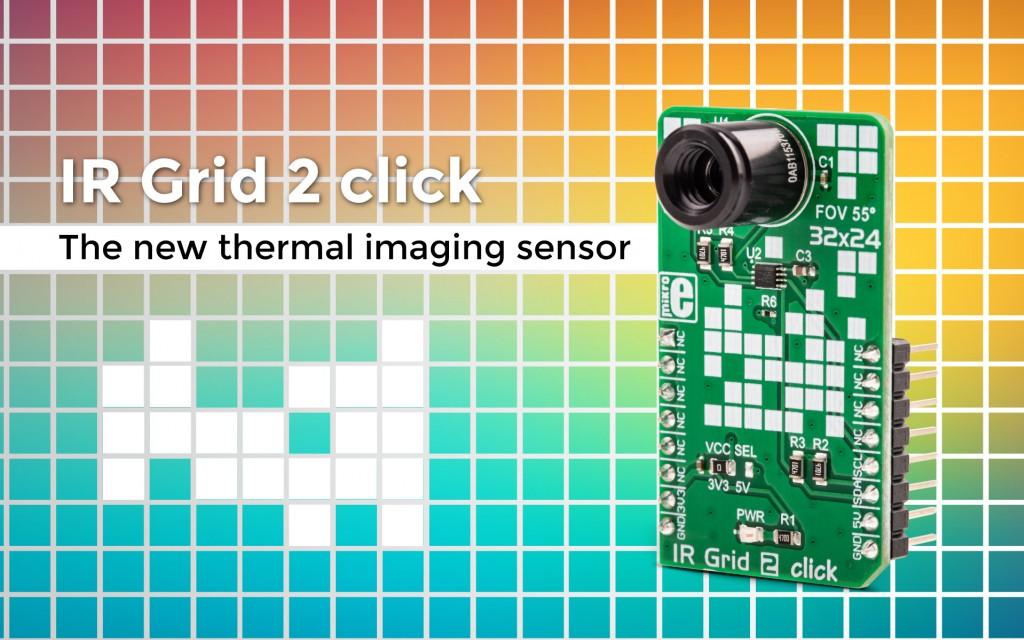 We've made a new thermal imaging sensor – IR Grid 2 click.