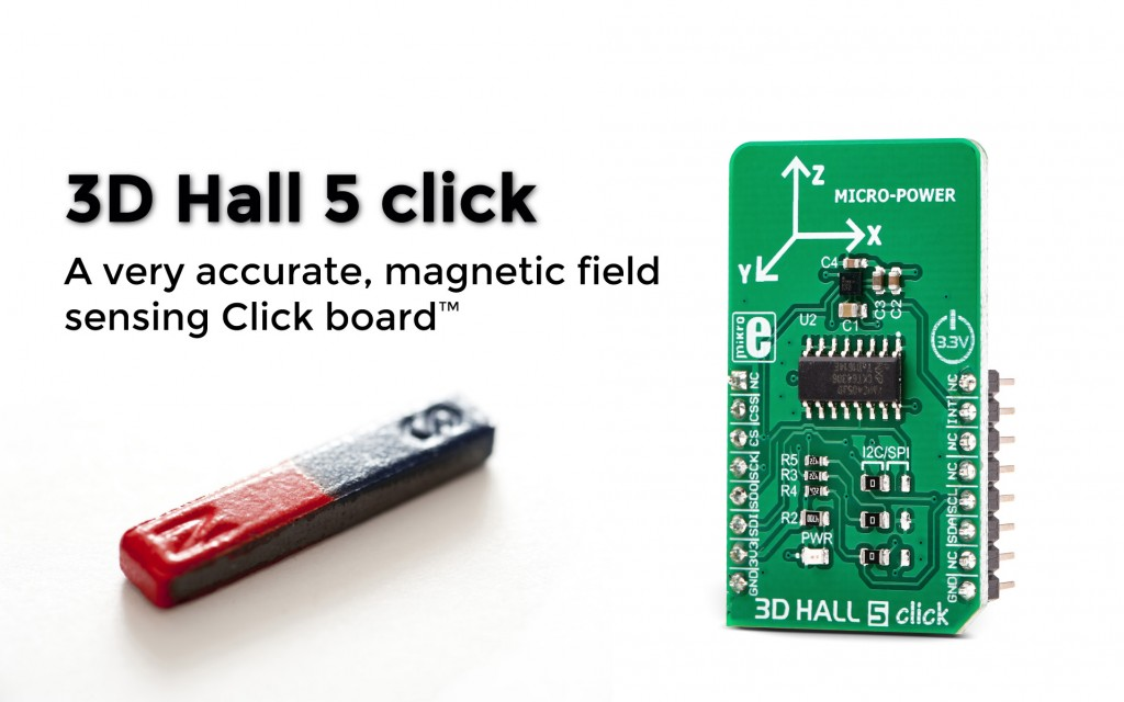 3D Hall 5 click: magnetic field sensing in all three axes