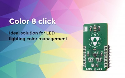 Color 8 click – ideal solution for LED lighting color management