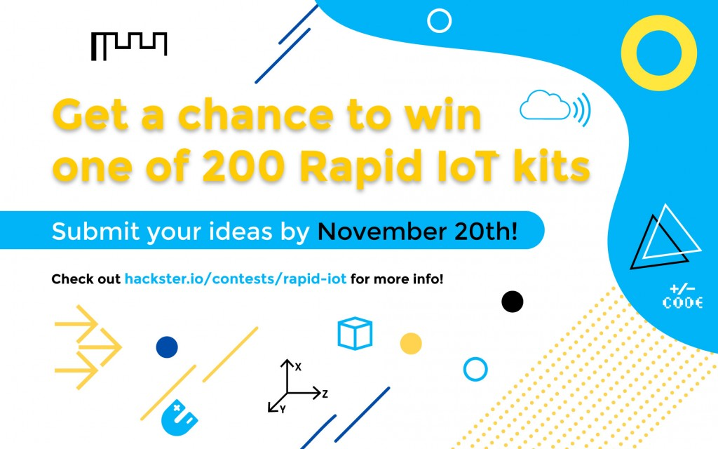 Take part in the hackster.io contest and get a chance to win amazing prizes!