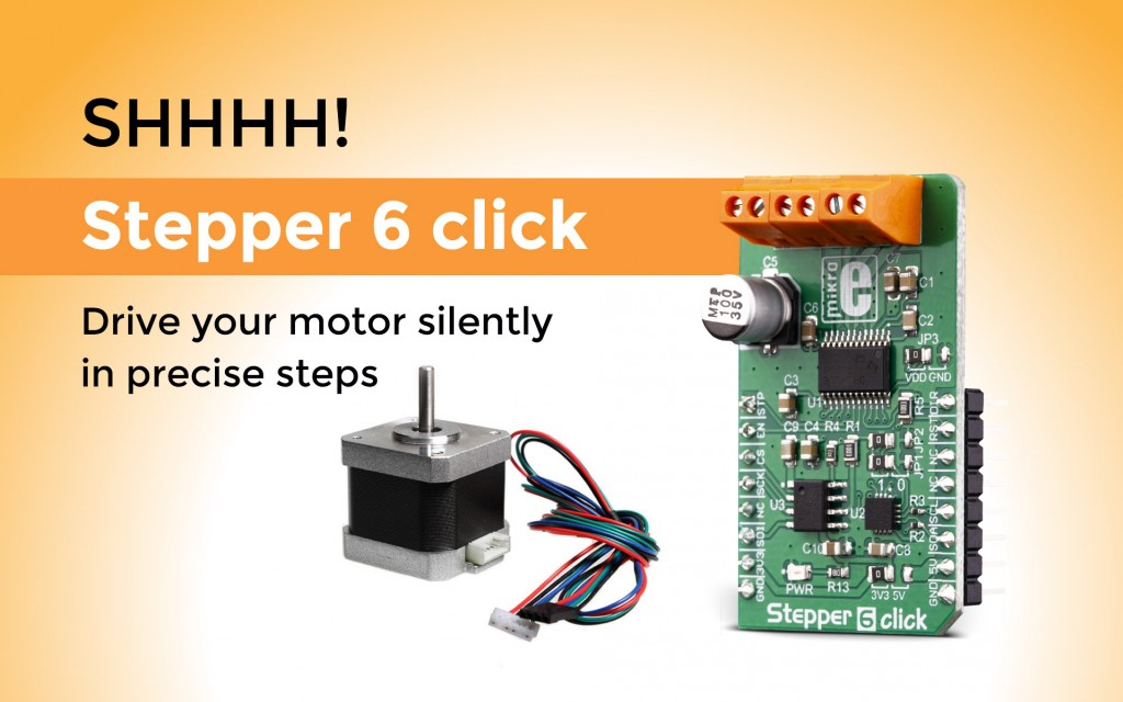 Stepper 6 – great solution for the complete integrated bipolar step motor driver