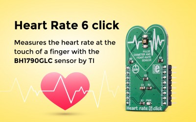 Heart rate 6 click – an optical biosensor for heart rate measurement.