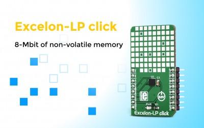 Excelon-LP click, a new non-volatile memory click with a FRAM module