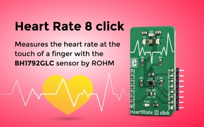 Heart Rate 8 click – a biosensor for heart rate measurement