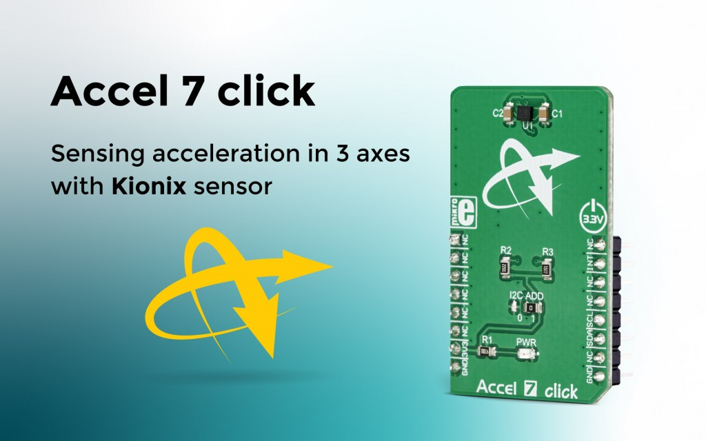 Tri-axis digital accelerometer Accel 7 click has arrived