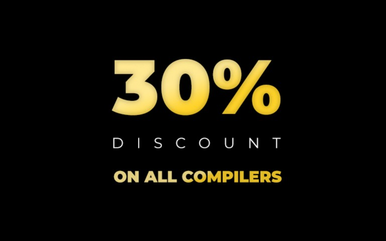Get the compilers you need at 30% off this Black Friday and Cyber Monday