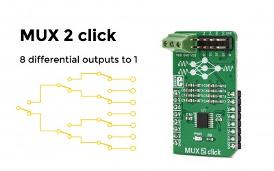 MUX 2 click – a signal translator for unipolar and bipolar signals