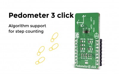 Pedometer 3 – a three axis acceleration Click board™