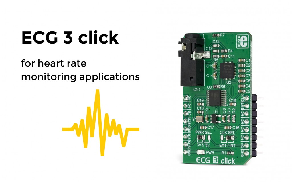 ECG 3 click – a complete solution for the development of ECG