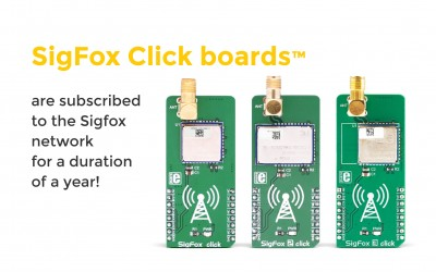 All SigFox Click boards™ are now subscribed to the Sigfox network!