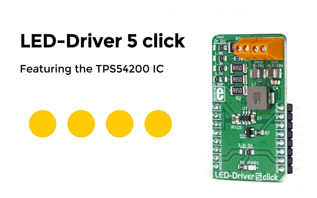 The LED Driver 5 click has arrived – it can drive an array of high-power LEDs