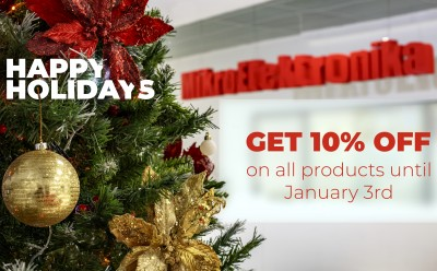 Get 10% discount on everything in the shop for the Holidays!