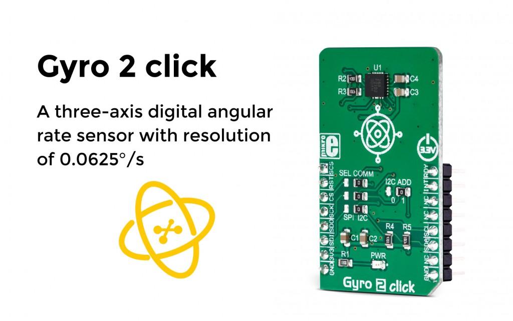 The digital angular rate sensor click - Gyro 2 click