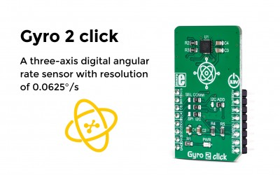 The digital angular rate sensor click - Gyro 2 click