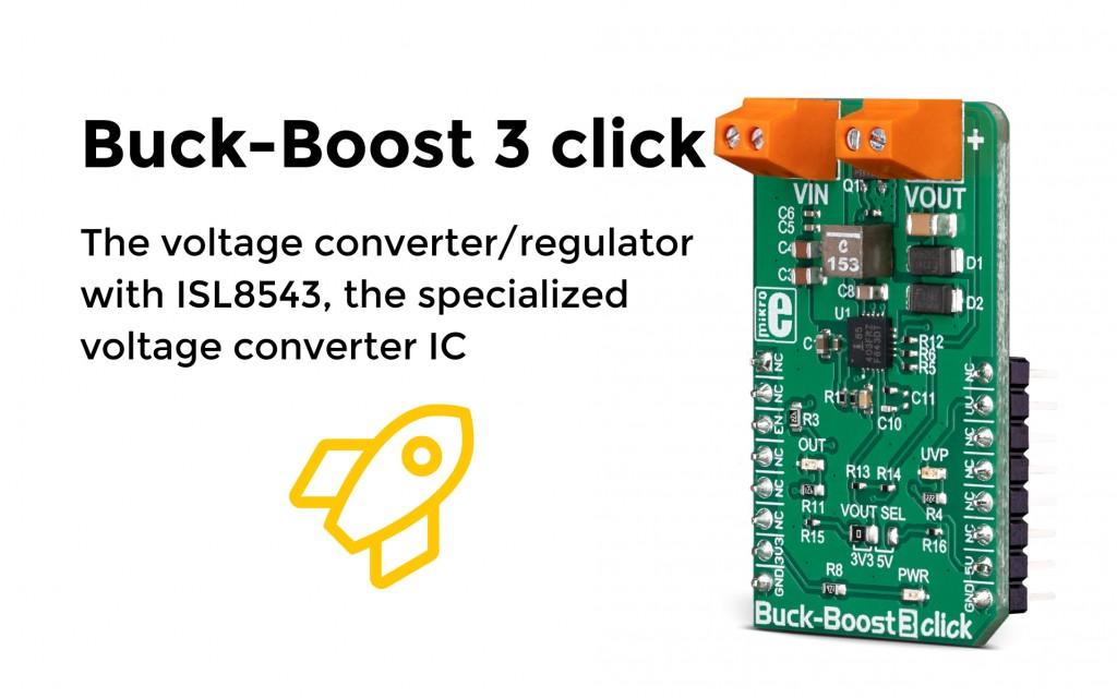 Buck-Boost 3 Click - regulating voltage even when the input voltage is under 3V