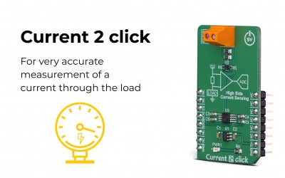 Current 2 Click, perfect for accurate, high-side current sensing