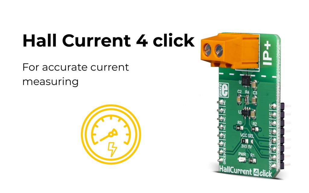 Hall Current 4 click, perfect for current measuring