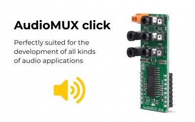 AudioMUX click - sound processing with digital controls