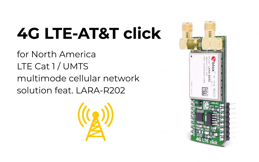 4G LTE-AT&T click for North America is here