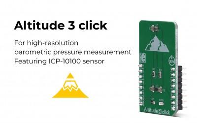 Altitude 3 click – high-resolution barometric pressure measurement
