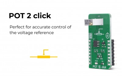 Achieve the accurate selectable reference voltage output with the POT 2 click