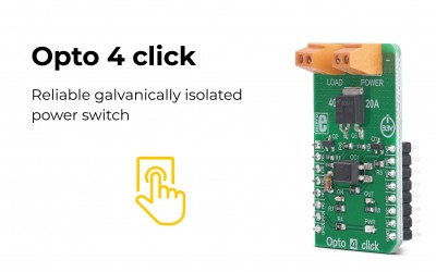Forget about power surges from the controlled circuit, the Opto 4 click is here