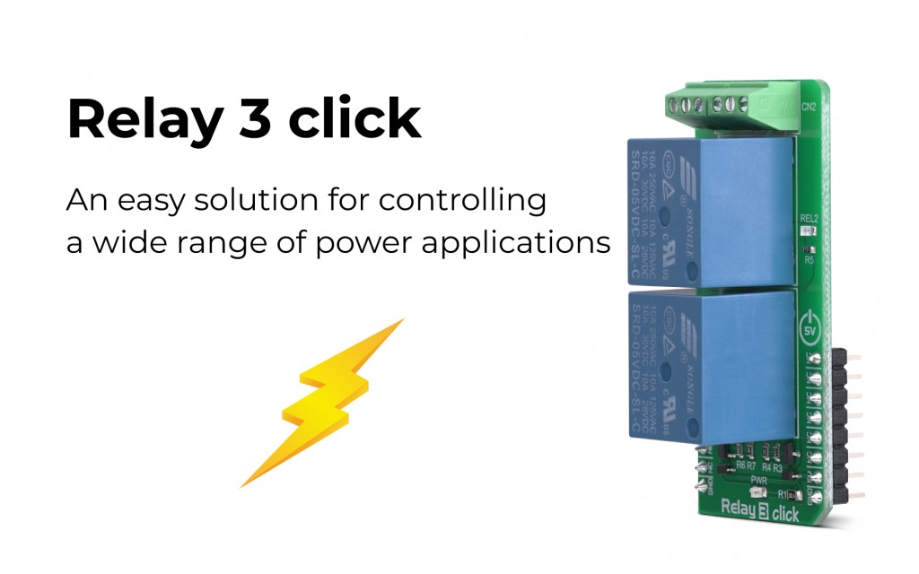 Need a remote ON/OFF switch? The Relay 3 click is perfect for you