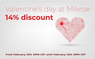 Valentine's day at Mikroe - 14% discount on all products